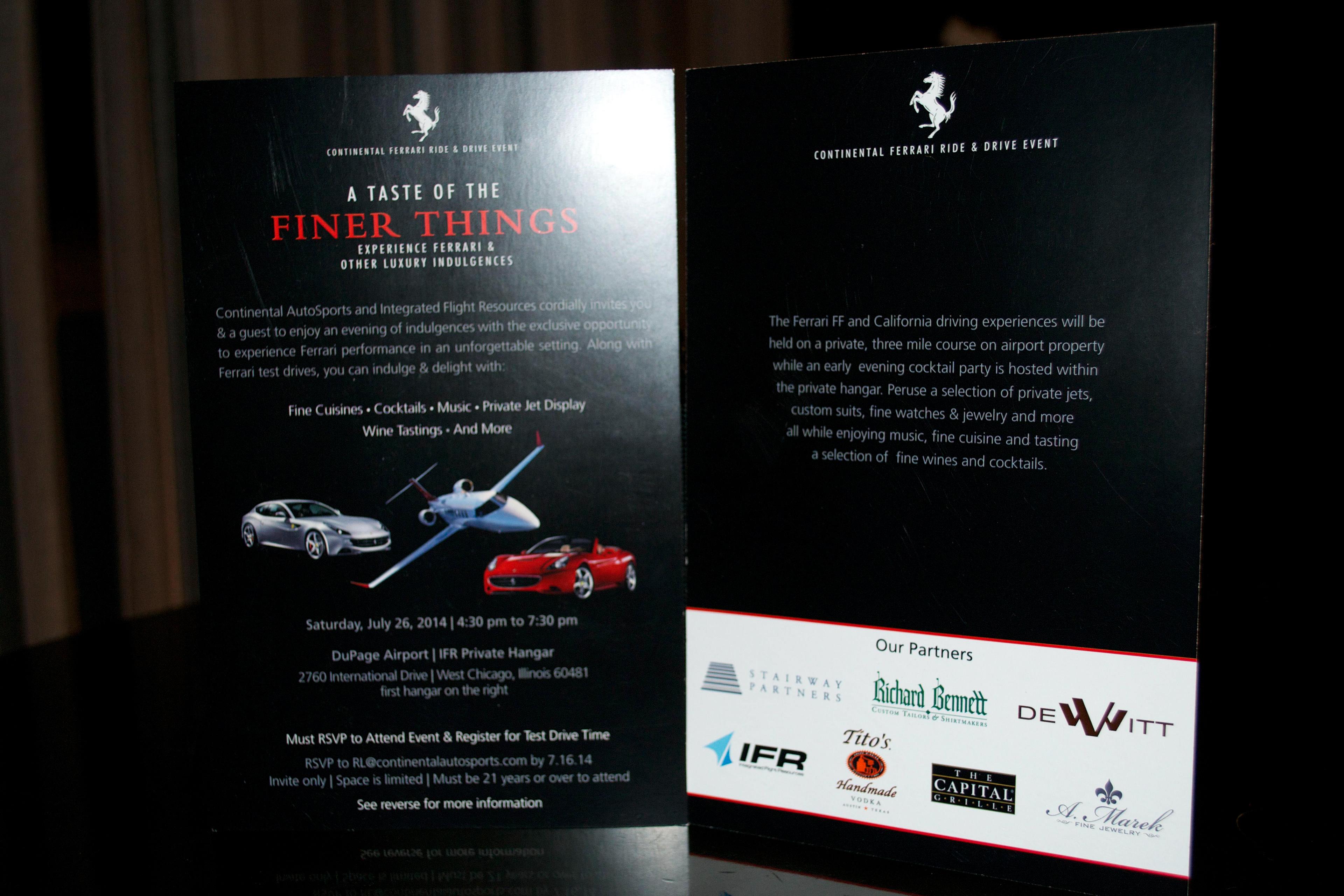 dee fritz ferrari event invitation print