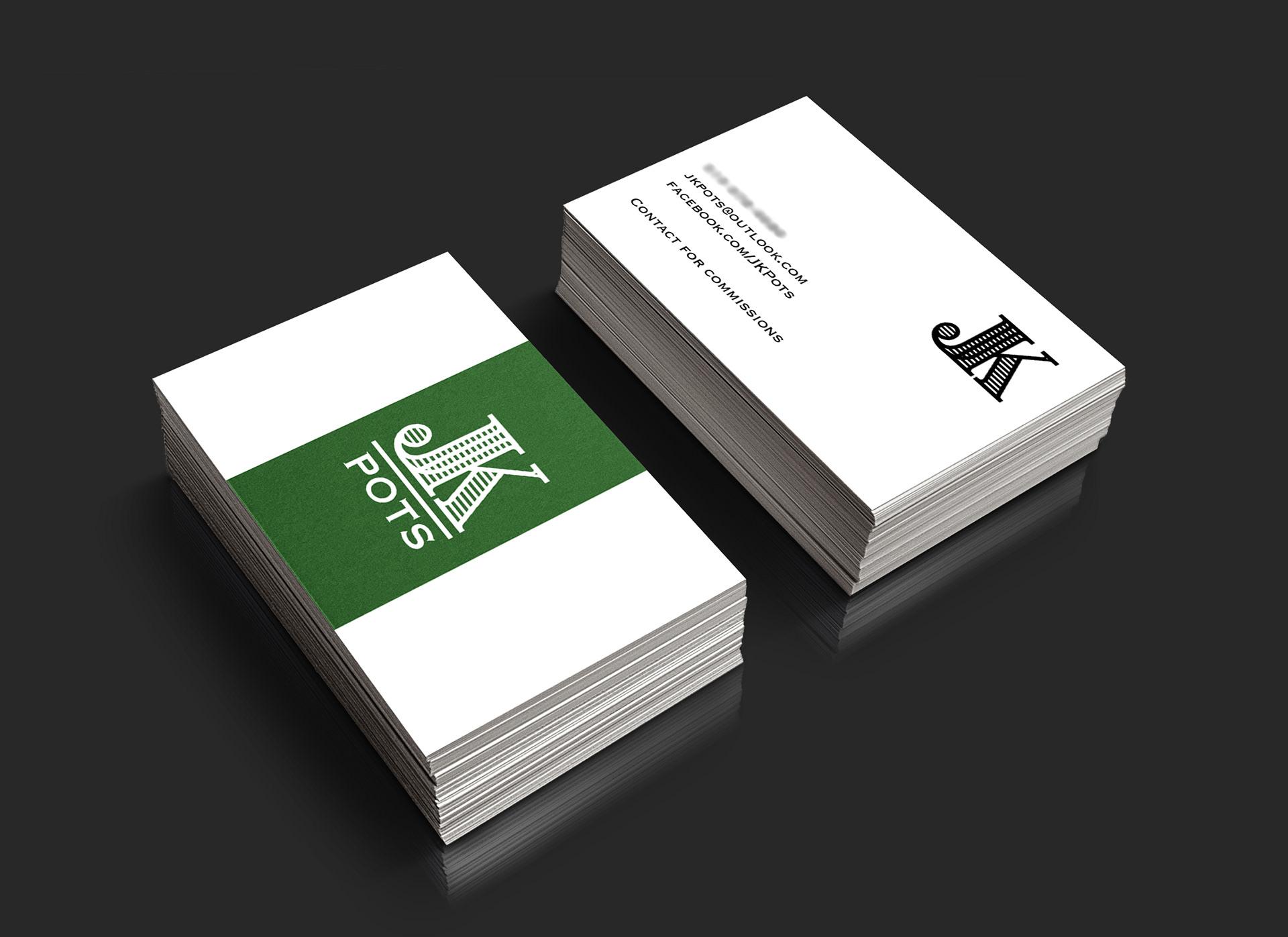Pashuk.Design - Business Card Design: JK Pots