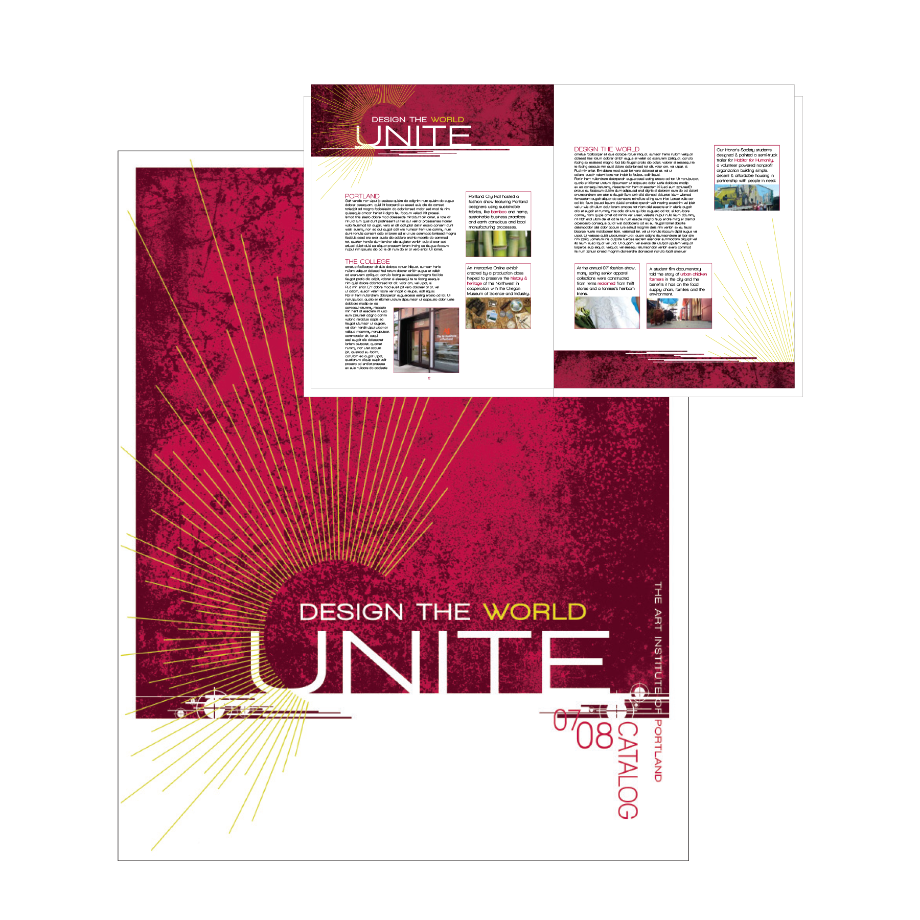 Yearly catalog print ad marketing materials and event collateral