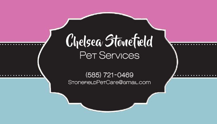 Hunter Braine Stonefield Pet Care Business Card