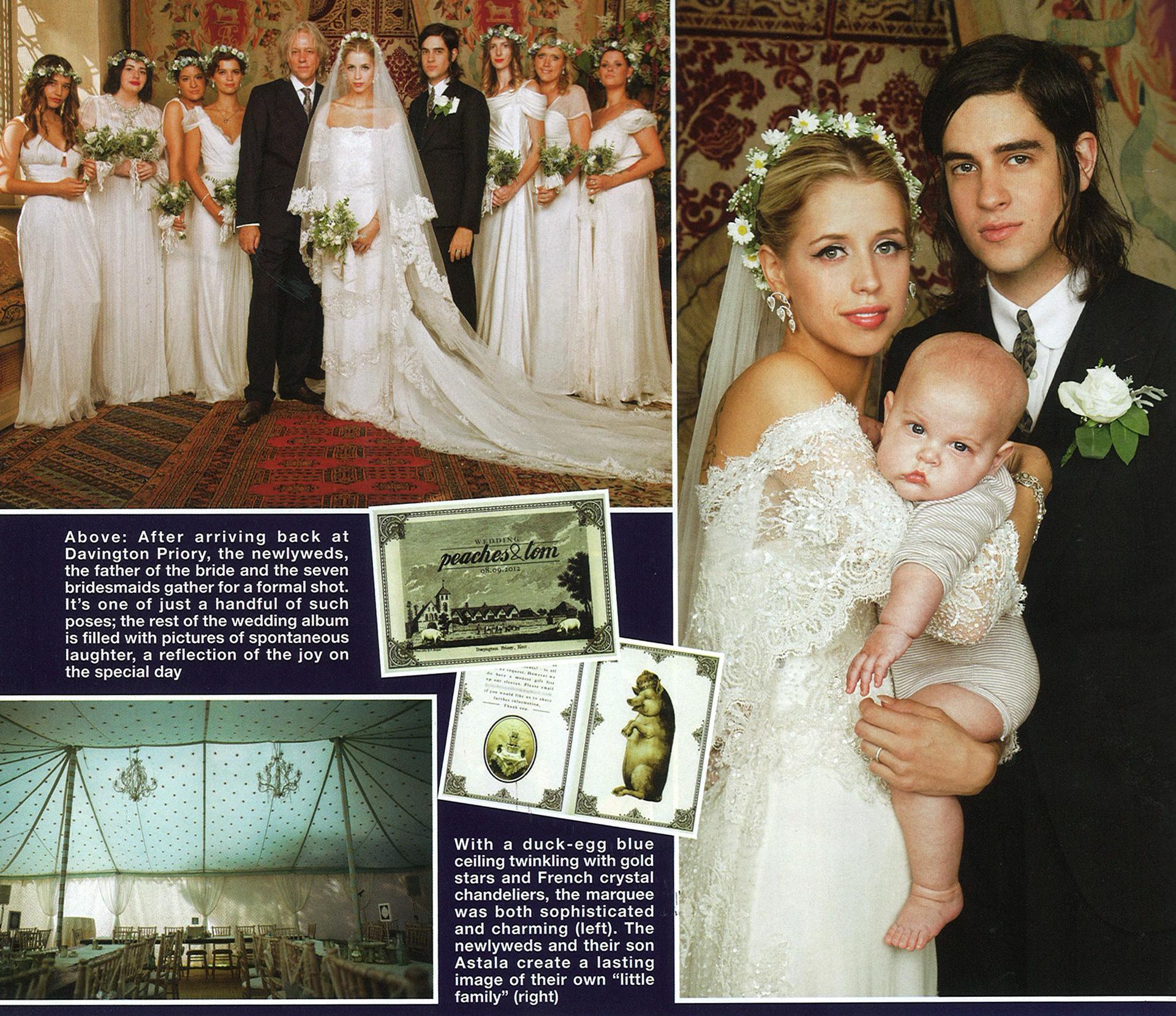 Peaches Geldof Wedding Invite HELLO Magazine Extract