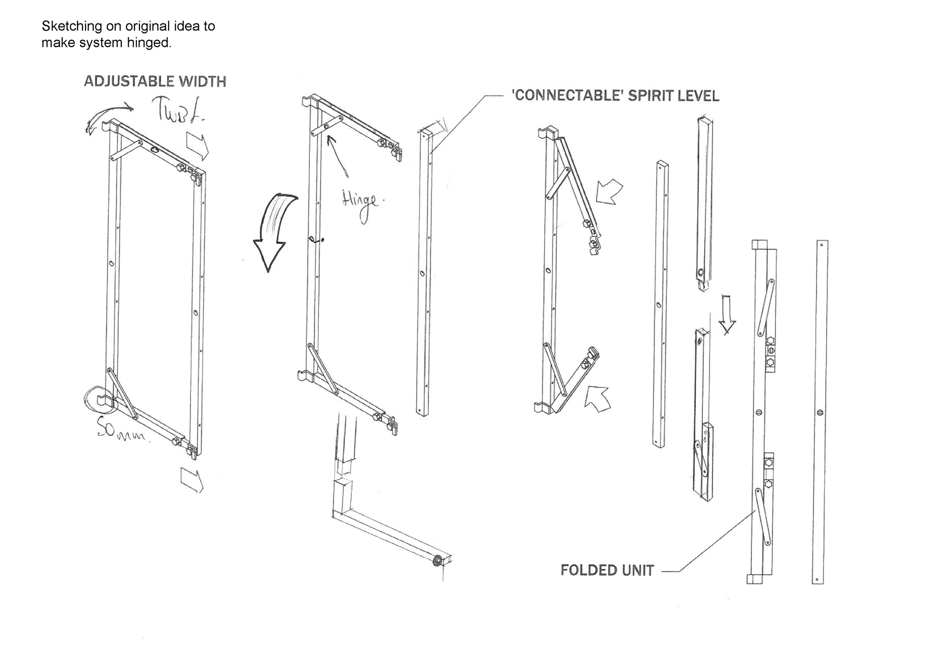 Dale burrowes industrial design carpentry aid rack and pinion prototype testing slide out arms pooptronica