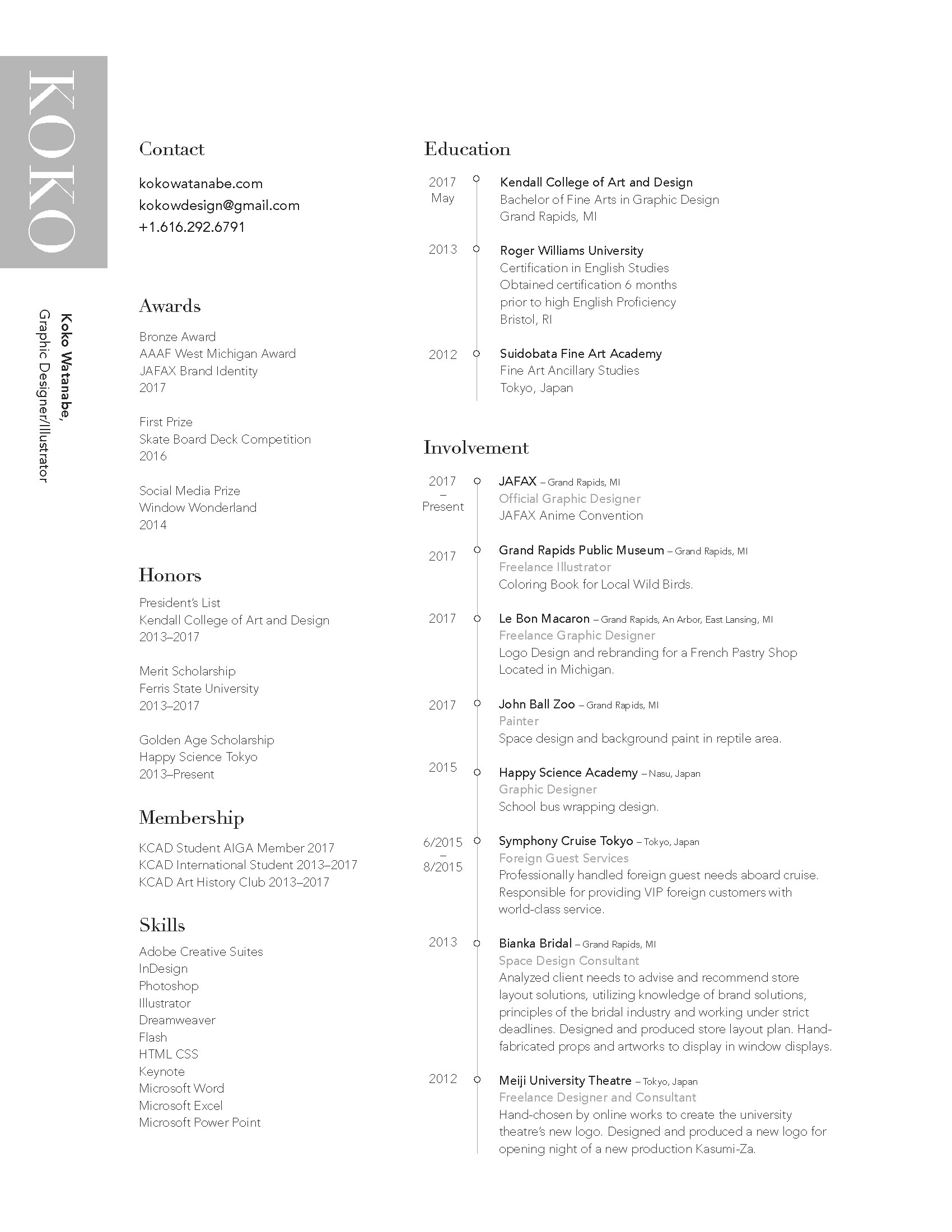 Koko Watanabe - Resume & Business card