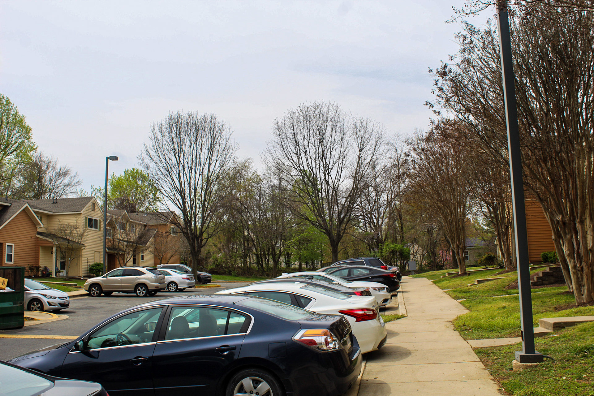 More cars home than usual in my housing complex in Landover, Md- April 6