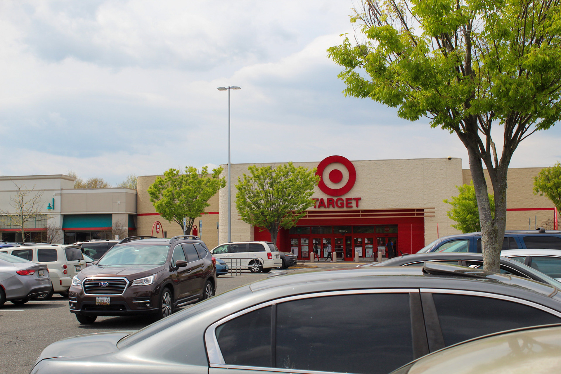 A busy Target parking lot in Largo,Md- April 6