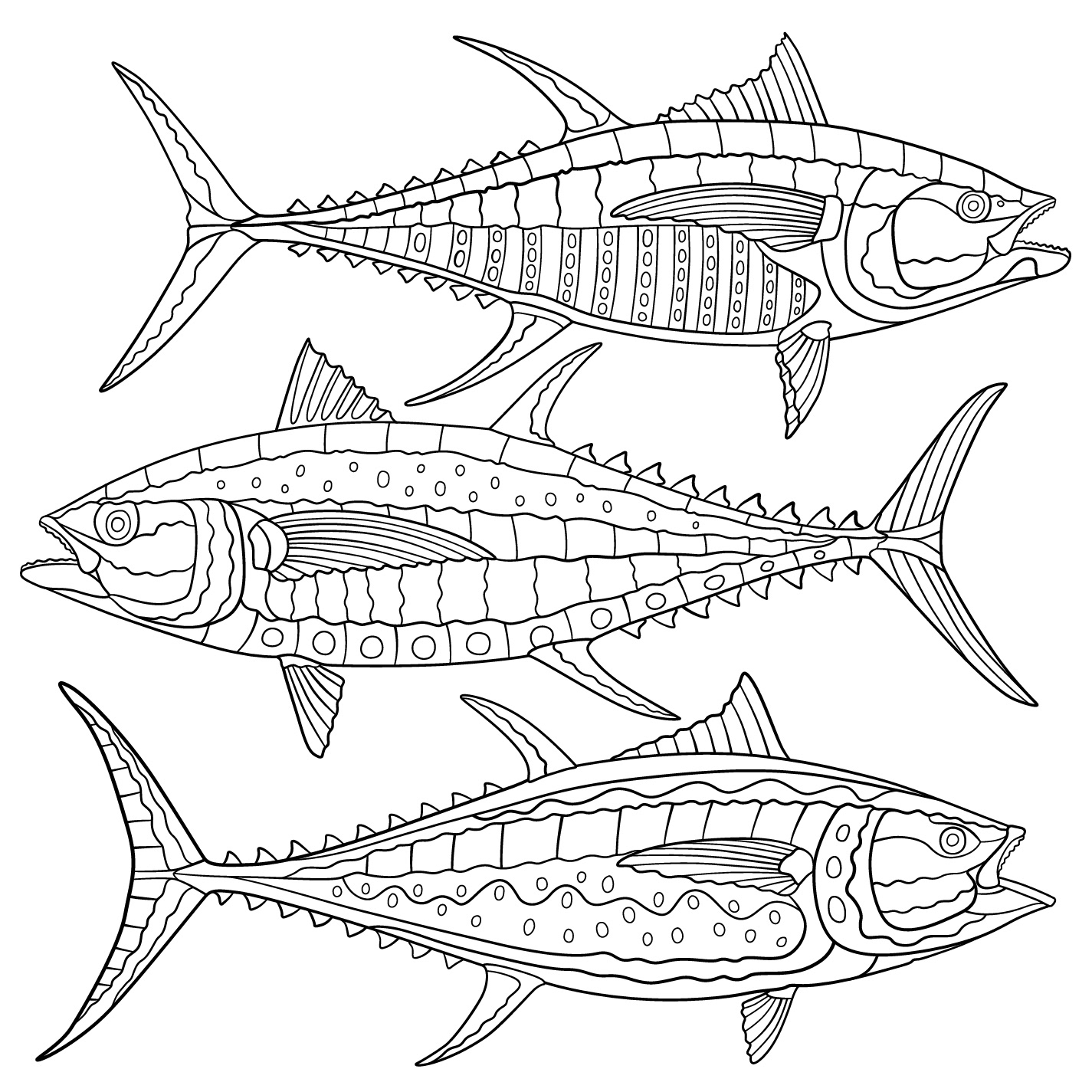 Animal coloring pages national geographic -  Tuna 1 Of 60 Pages
