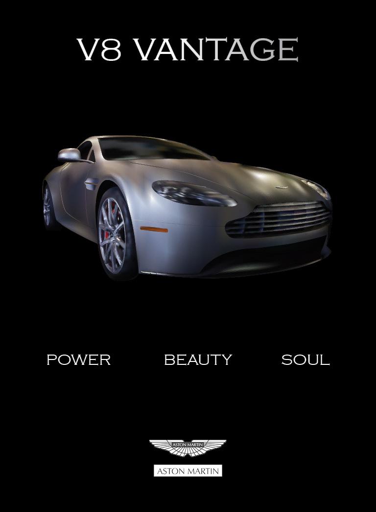 Victoria Wine Aston Martin Magazine Advertisement