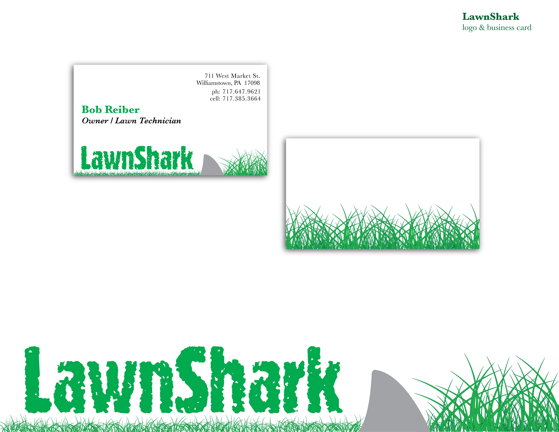 Fresh Lawn Care Business Cards