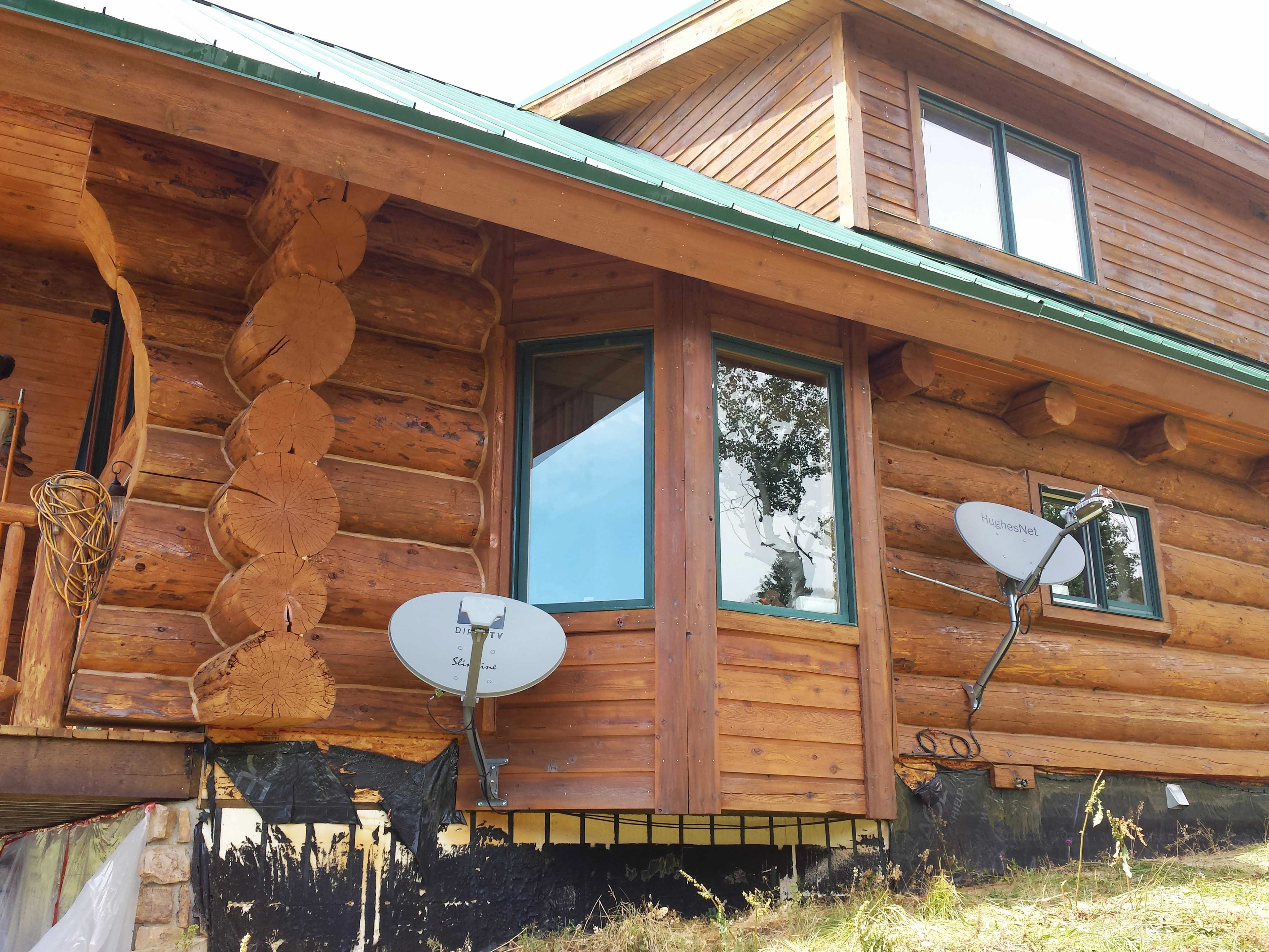 Log home maintenance and restoration completed by colorado for Summit county home builders