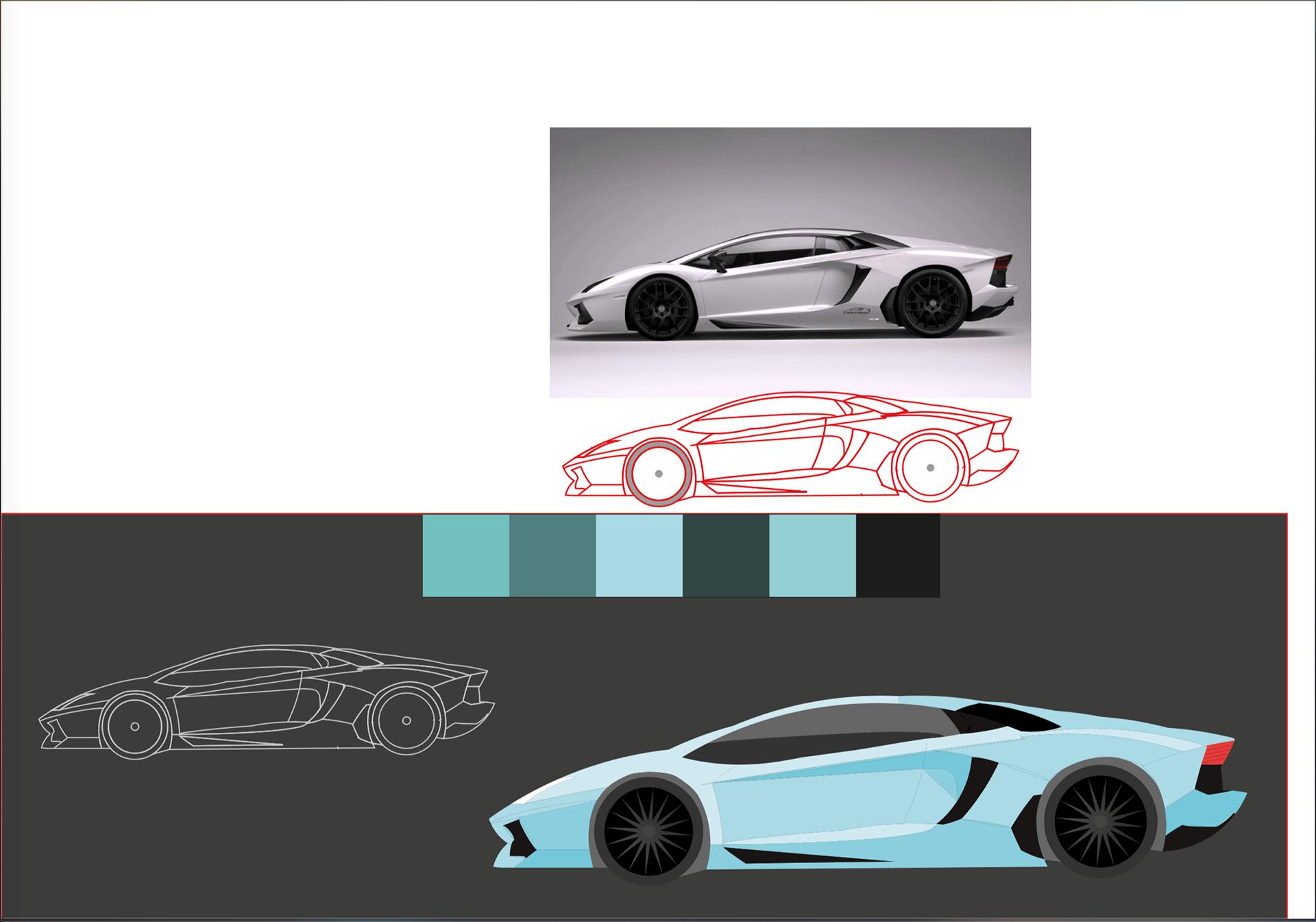 Martyna Starega Golden Ratio Design Lamborghini