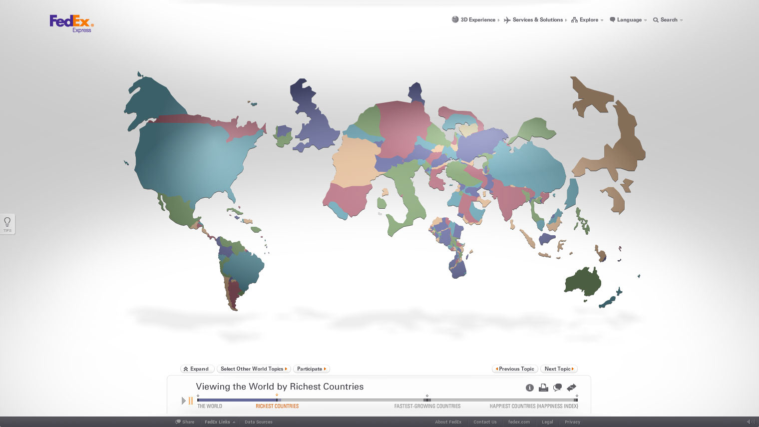 Matt Clack FedEx Our Changing World - Changing world language map