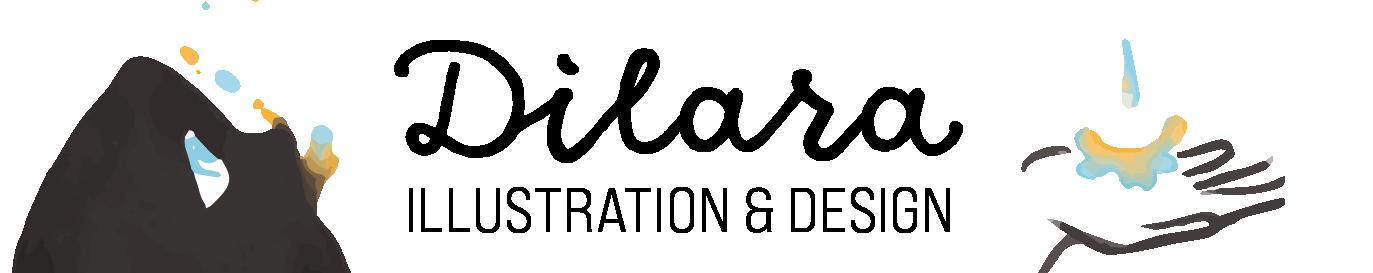 Dilara Illustration und Design Schrift-Bild-Logo