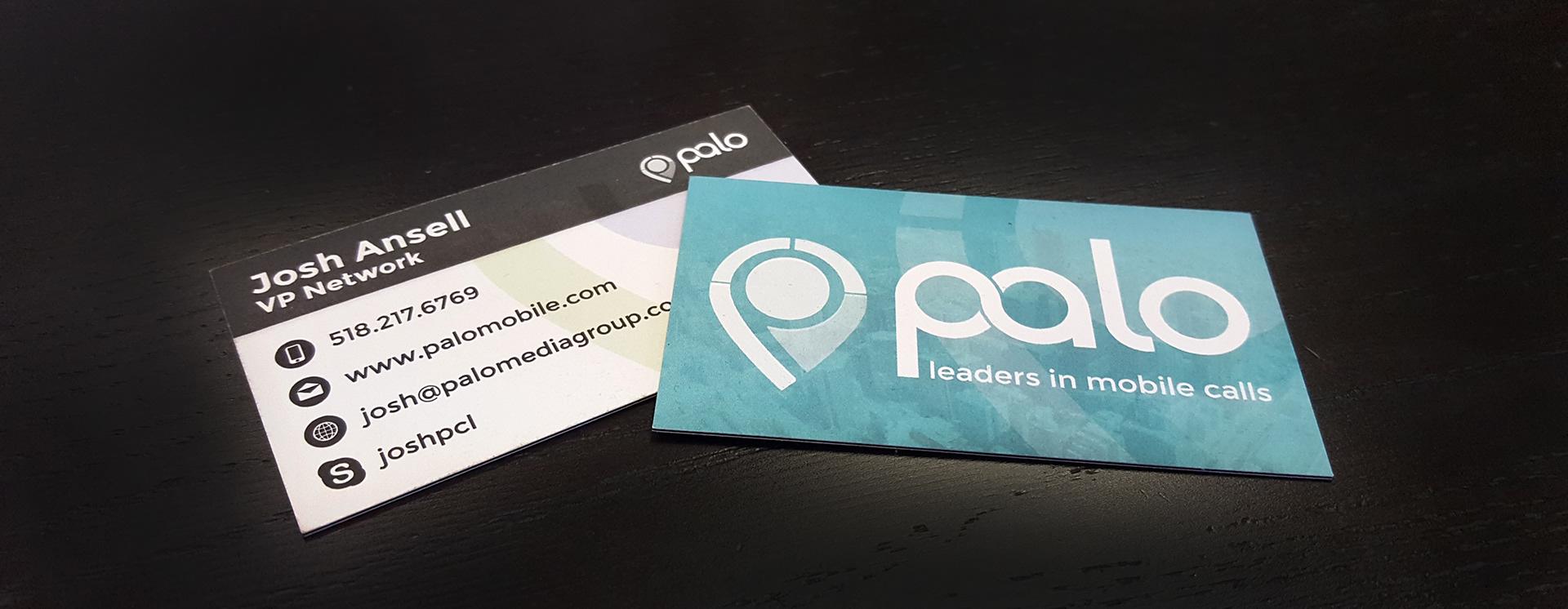 palo mobile business card design - Mobile Business Card