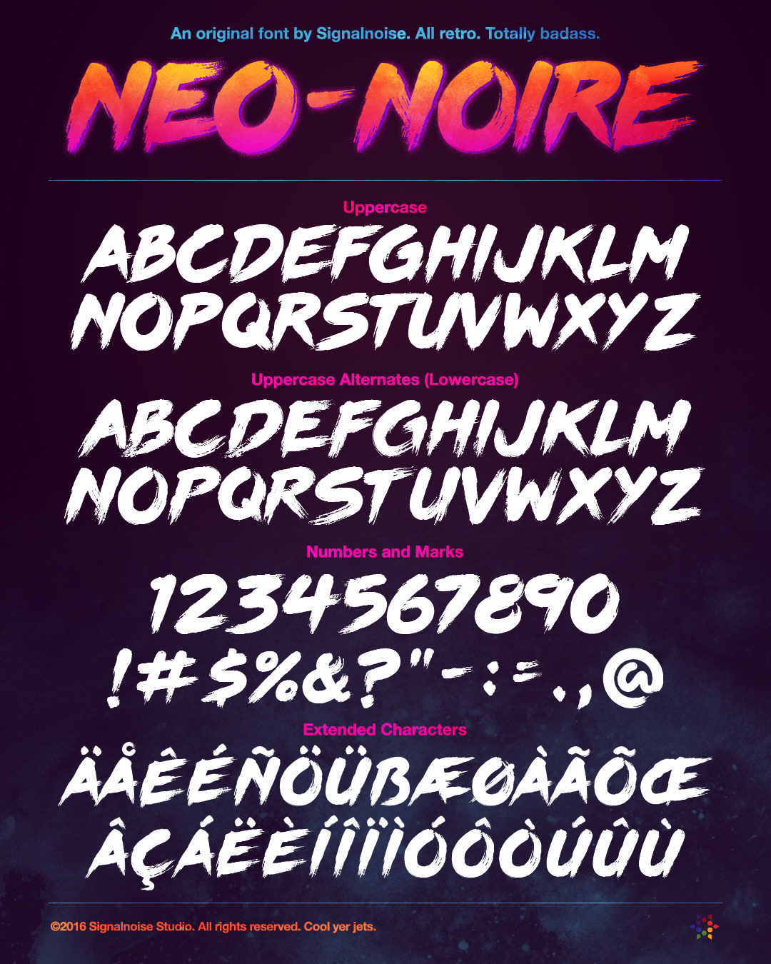 Signalnoise The Work Of James White Neo Noire Font