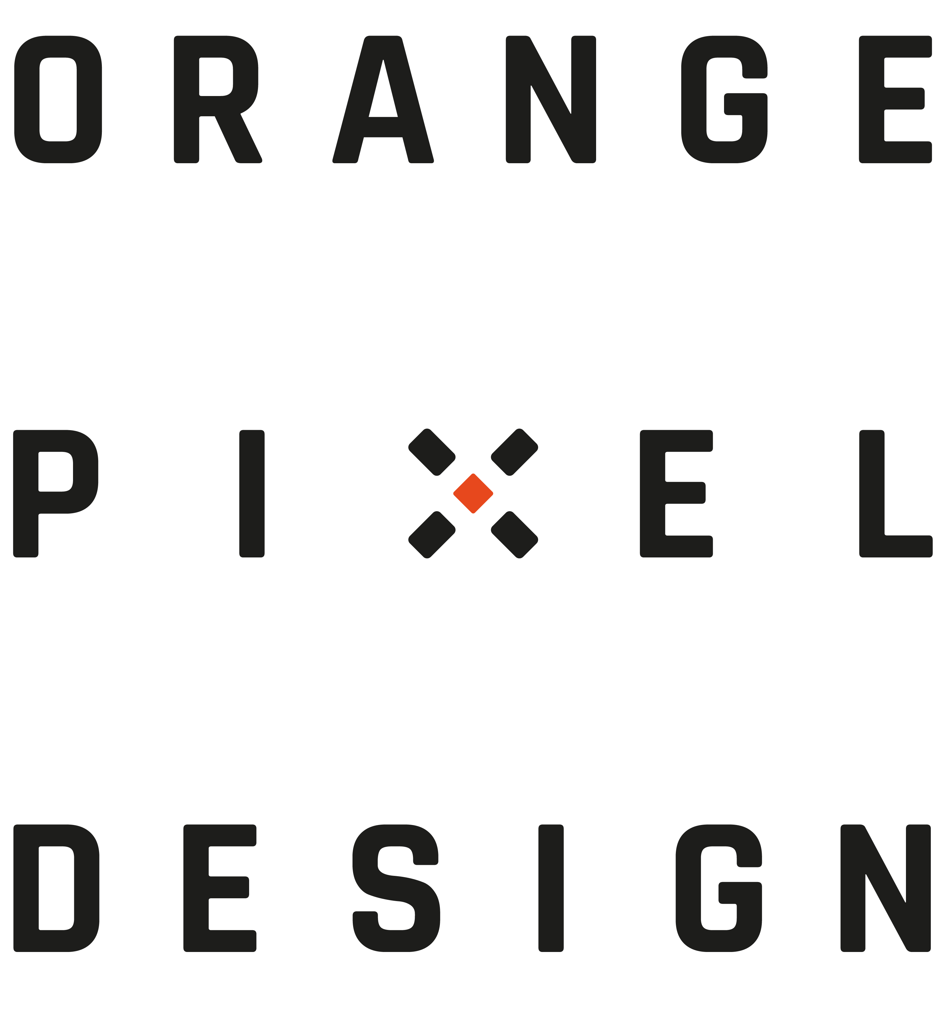 orange pixel design