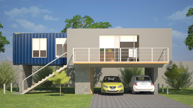 Ea s a arquitectura guatemala casa contenedor - Diseno de contenedores ...