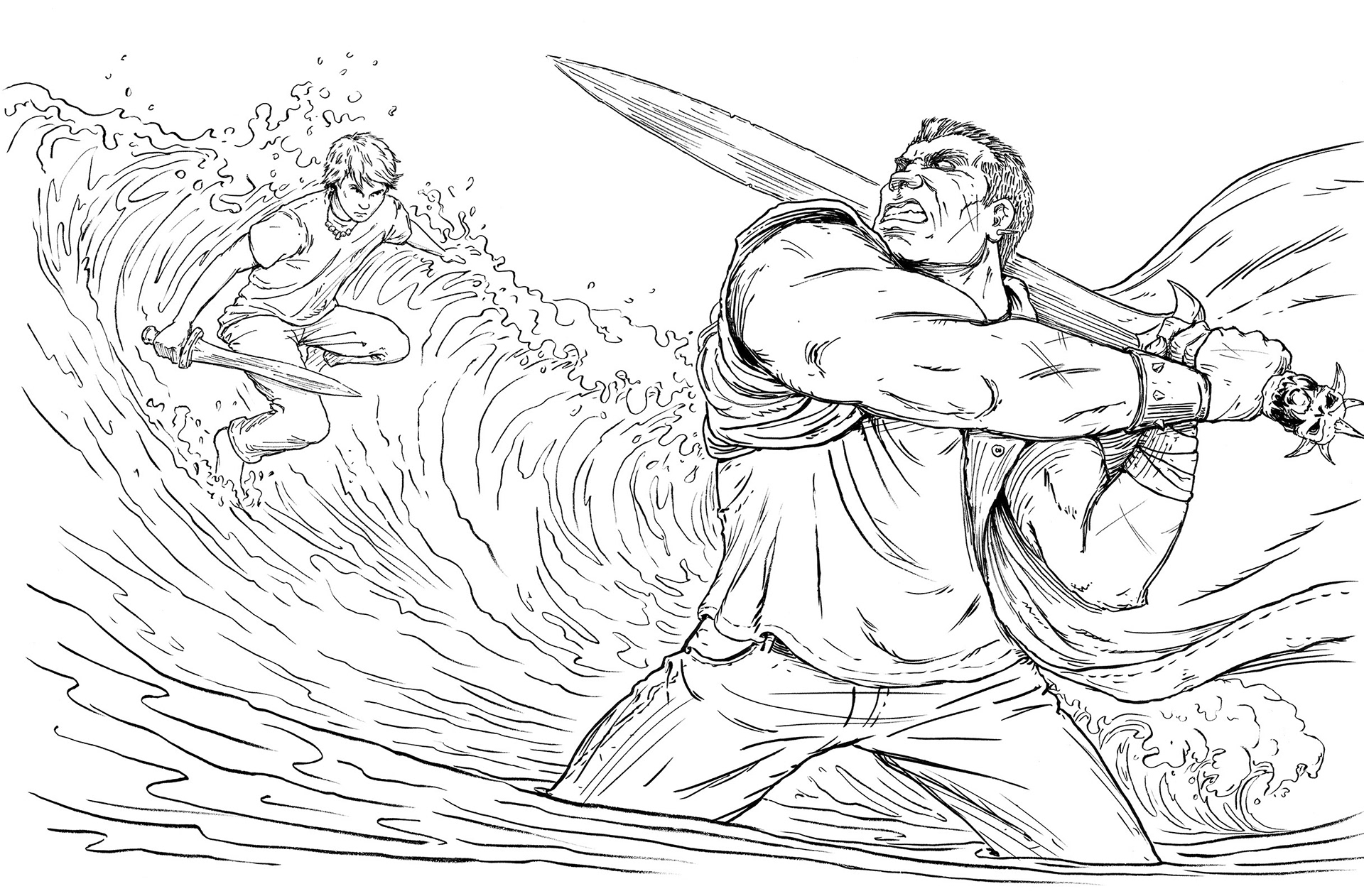 Keith Robinson Illustration The Percy Jackson Colouring Book