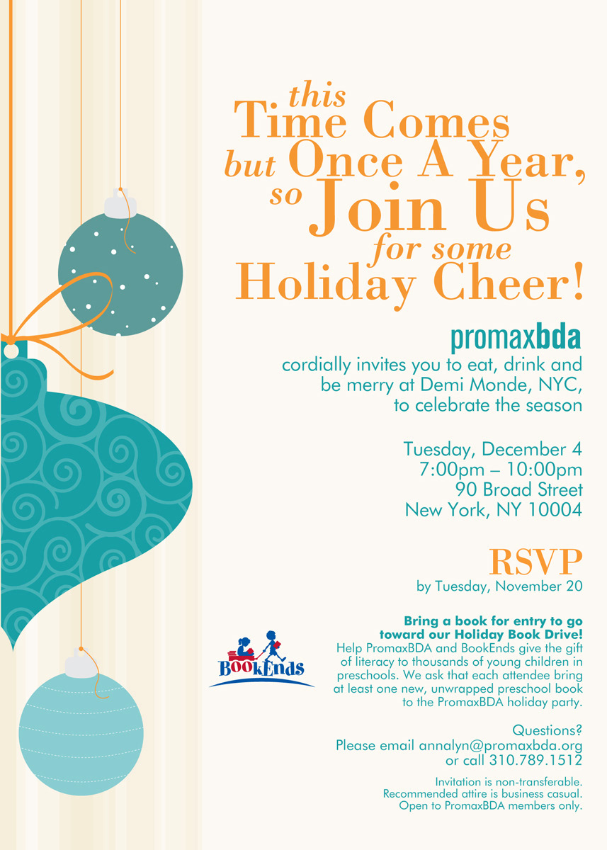 emma designs things - Member Holiday Party Email Invites