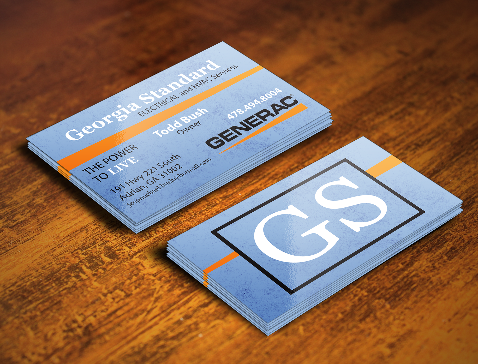 Trey Cox Graphics - Business Card for Georgia Standard