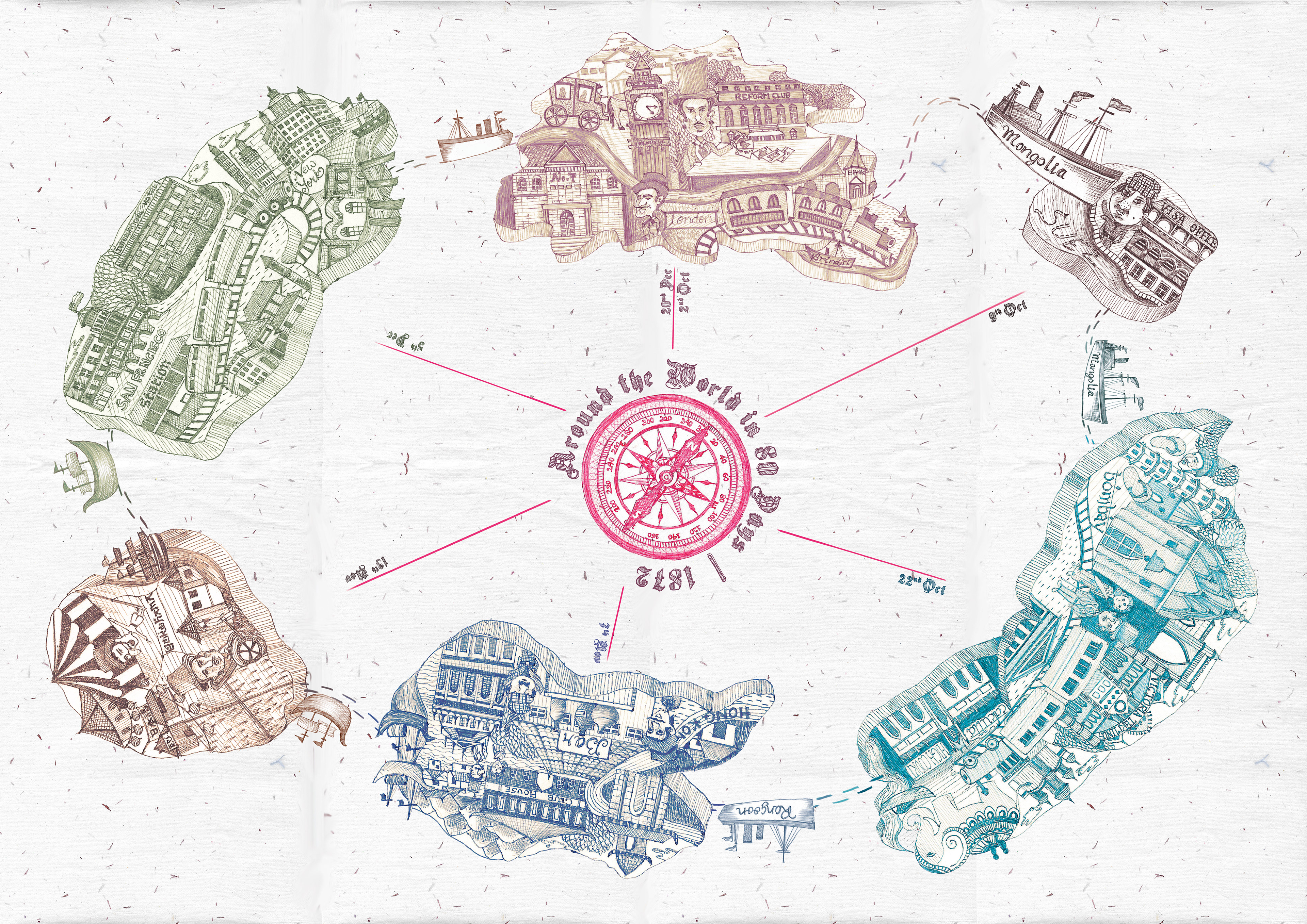 Roopal Jain - Map: Around the World in 80 Days