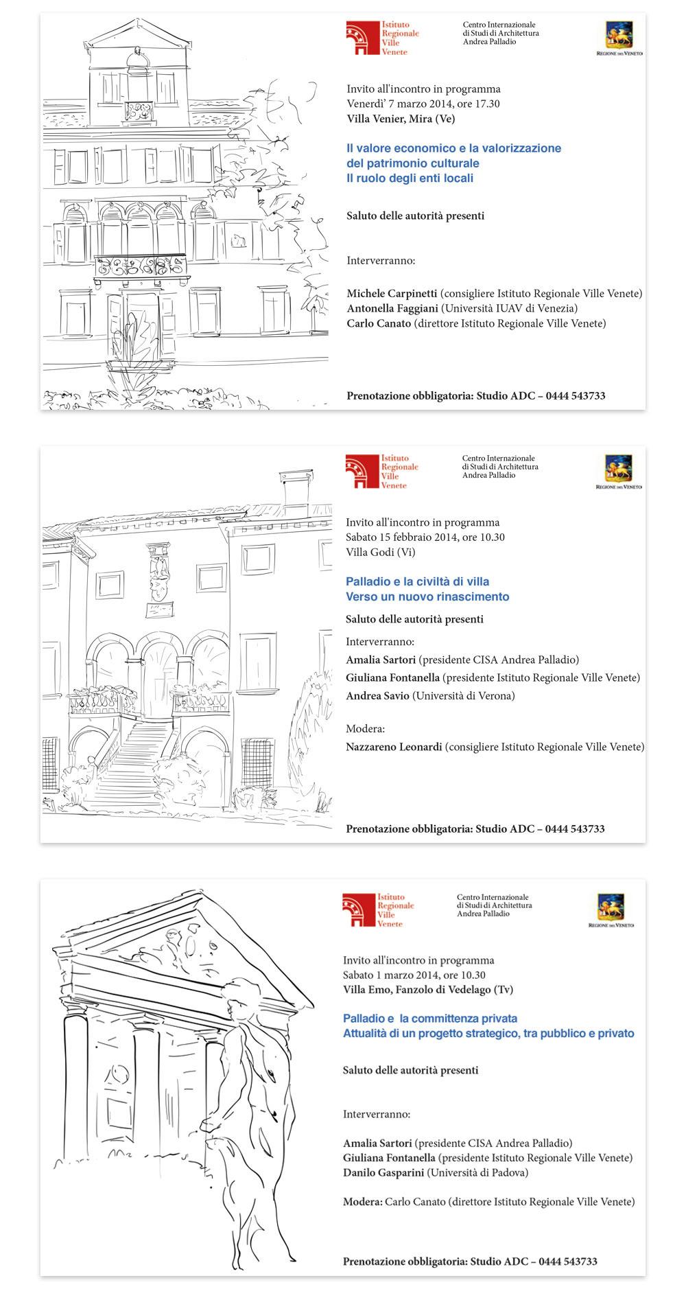 Istituto Regionale Ville Venete.Studio Cudicio Studio Grafico Vicenza Incontri In Villa