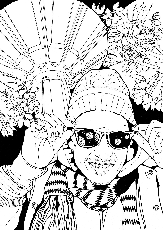 Elina Tuomi Illustration - Finnish Rap Coloring Book