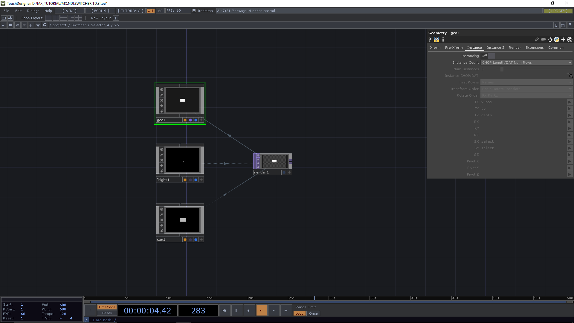 MXZEHN Audiovisual Design Build a NDI Switcher in TouchDesigner 099