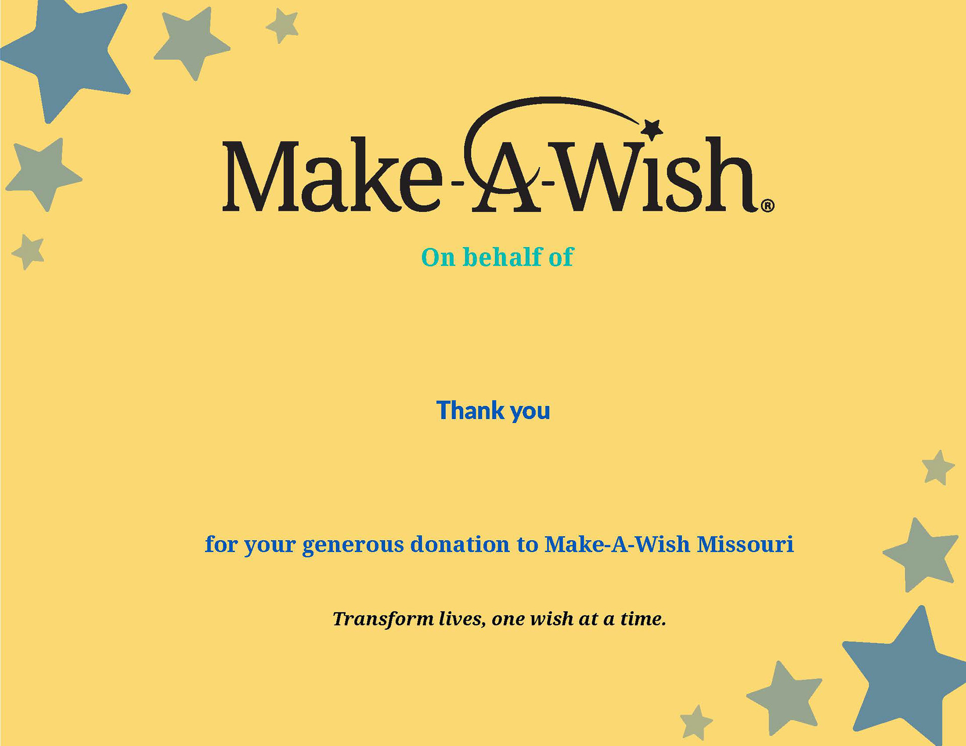 Jazmine poblette make a wish thank you certificate templates another design template that i created for make a wish are these thank you templates these certificates are given to wish kids when they find out their maxwellsz