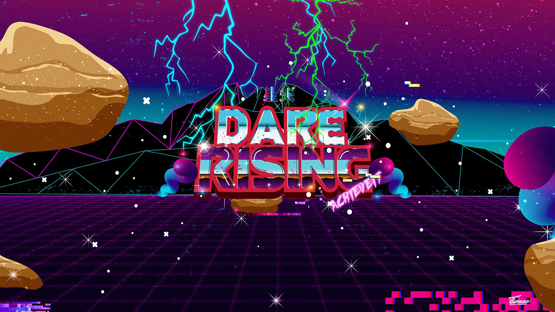 seiyafx - dare rising 80's retro wallpaper