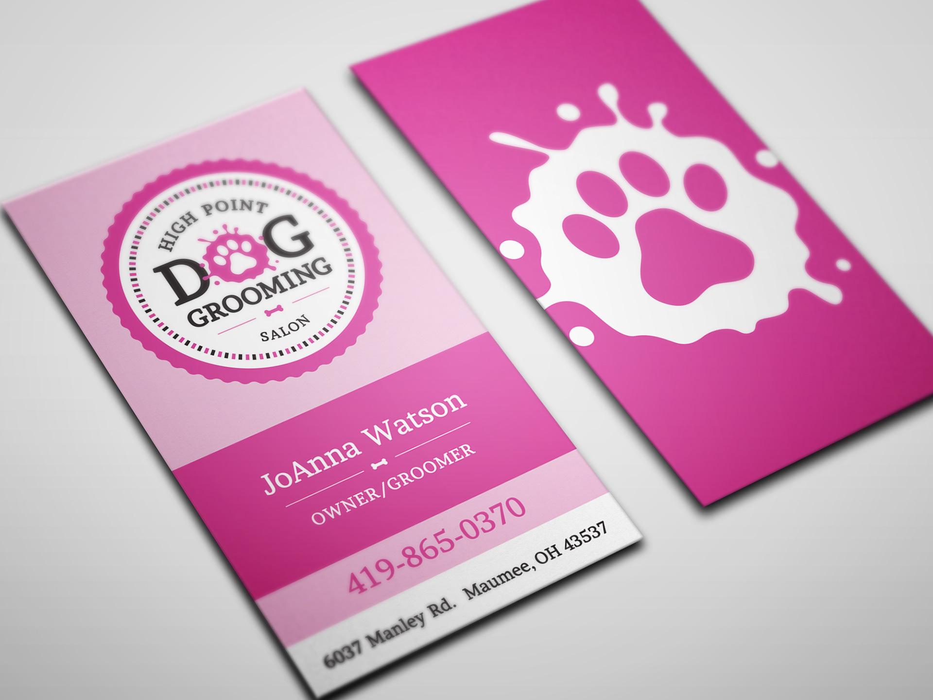 Dan Royer Designs - High Point Dog Grooming Brand Identity