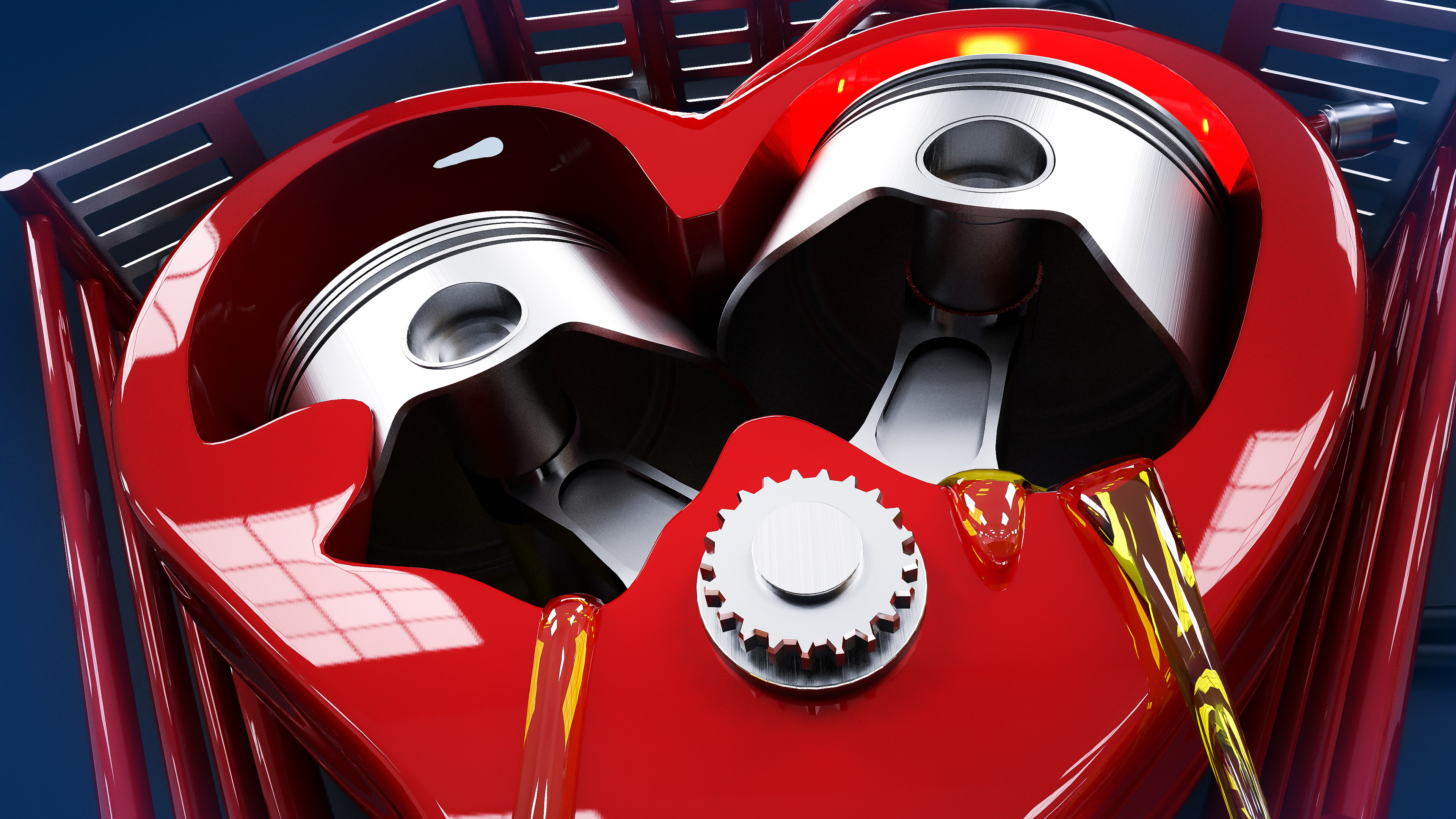 картинки в виде сердца-мотора всё