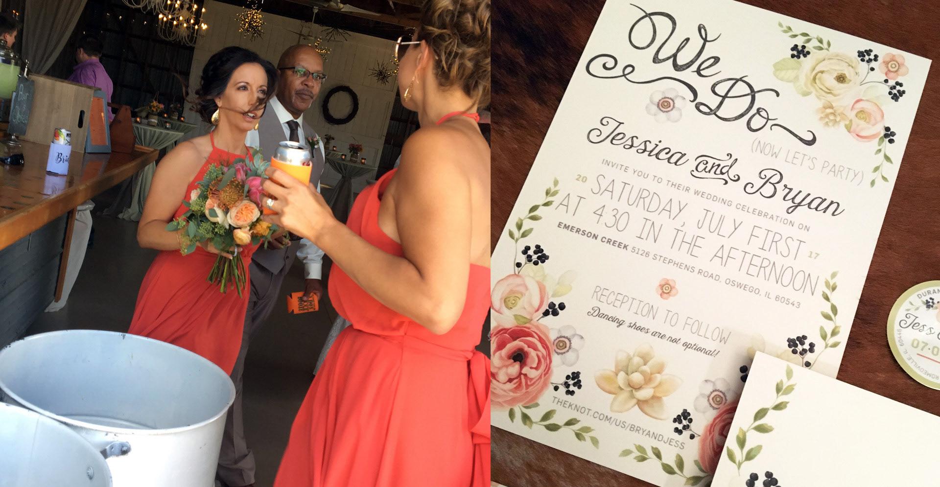 pam esposito - Jess & Bry\'s Wedding Invitations