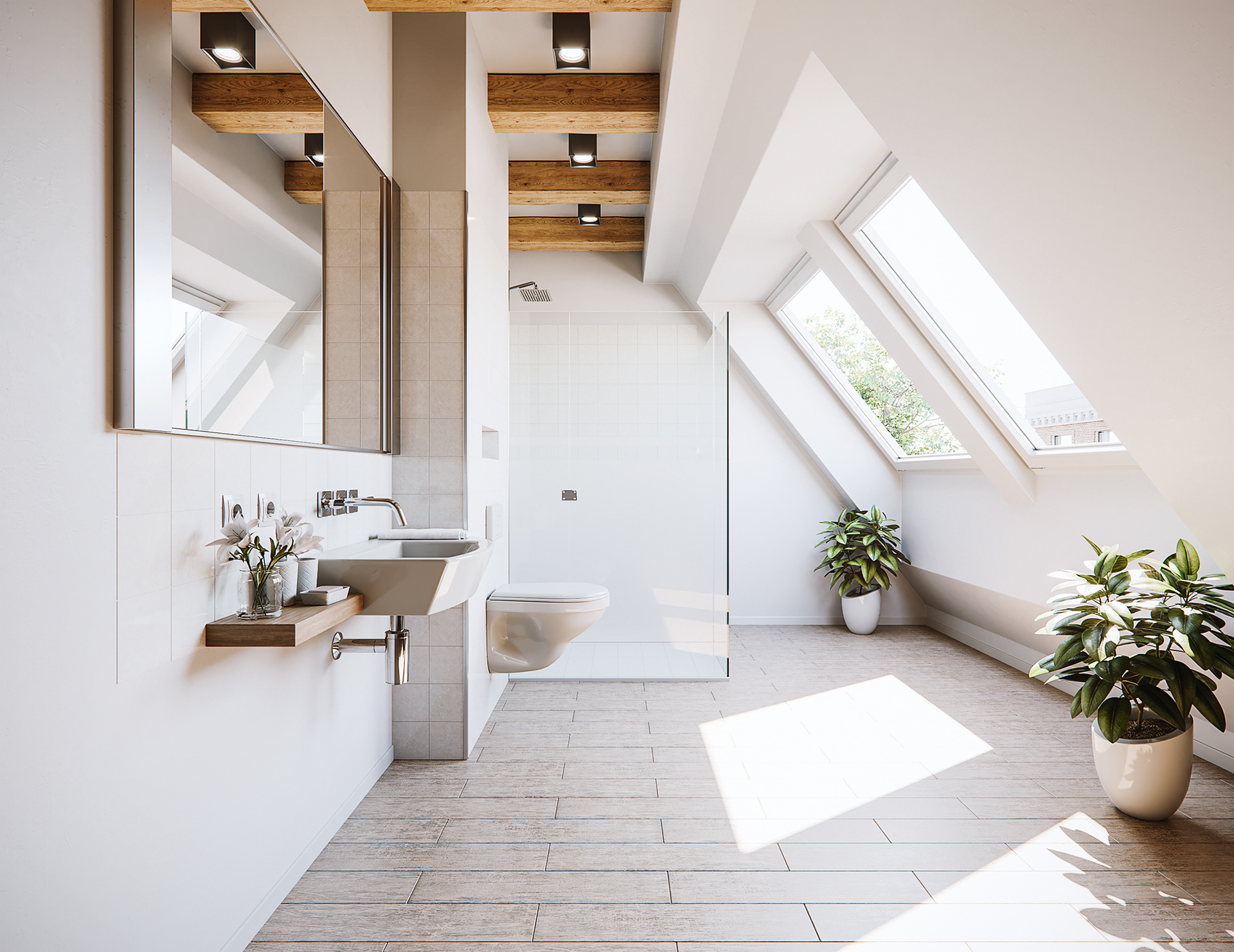 Nejc Kilar Small Attic Bathroom Remake - Bathroom remake
