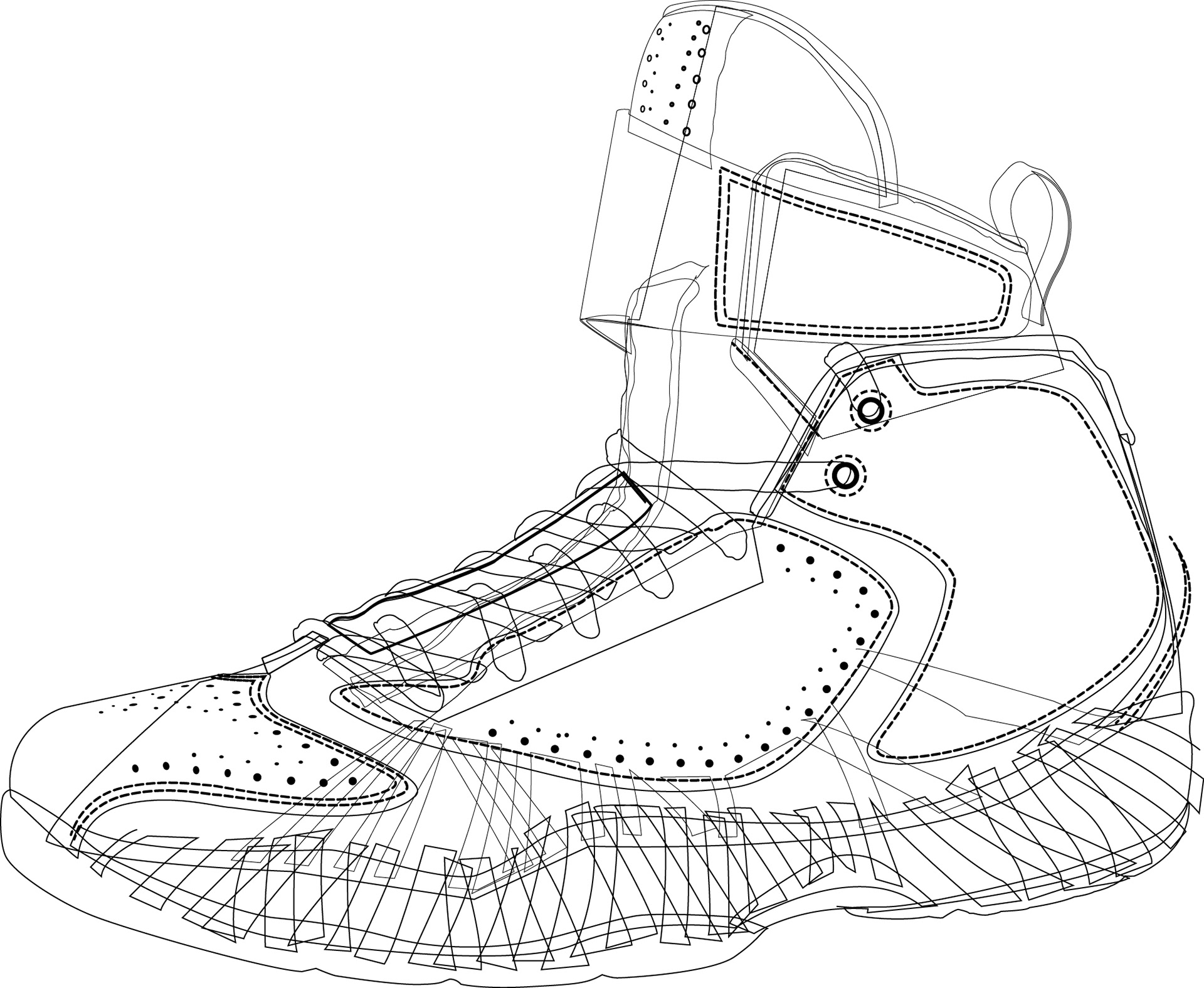 I d originally illustrated the shoe for inclusion in another project. e0b9a390b