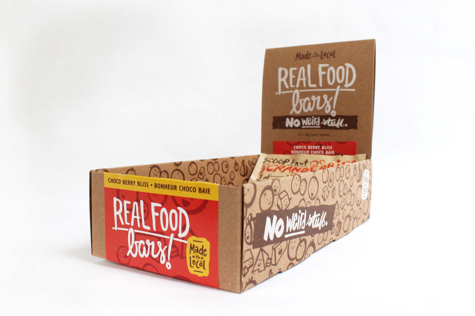 Lizane tan made with local 39 s real food bars packaging for Food bar packaging