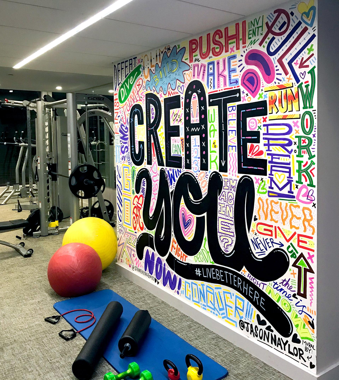 Gym Wall Design: STONEHENGENYC GYM MURALS