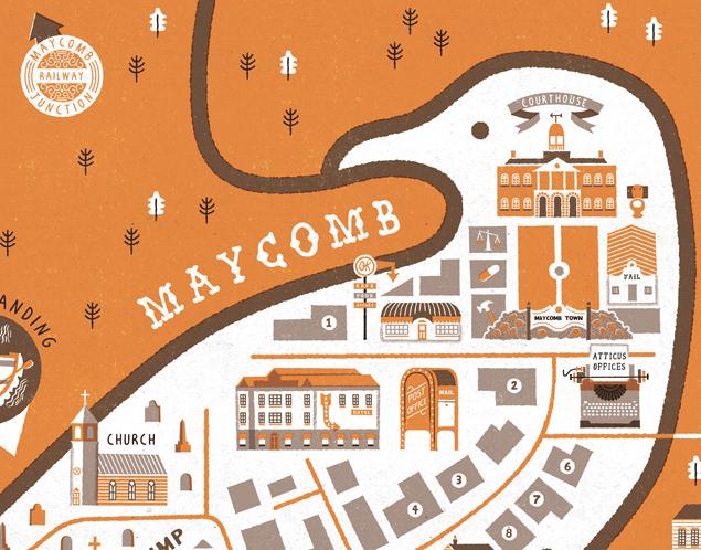 Stuart Hill Illustration - Maycomb Town Map