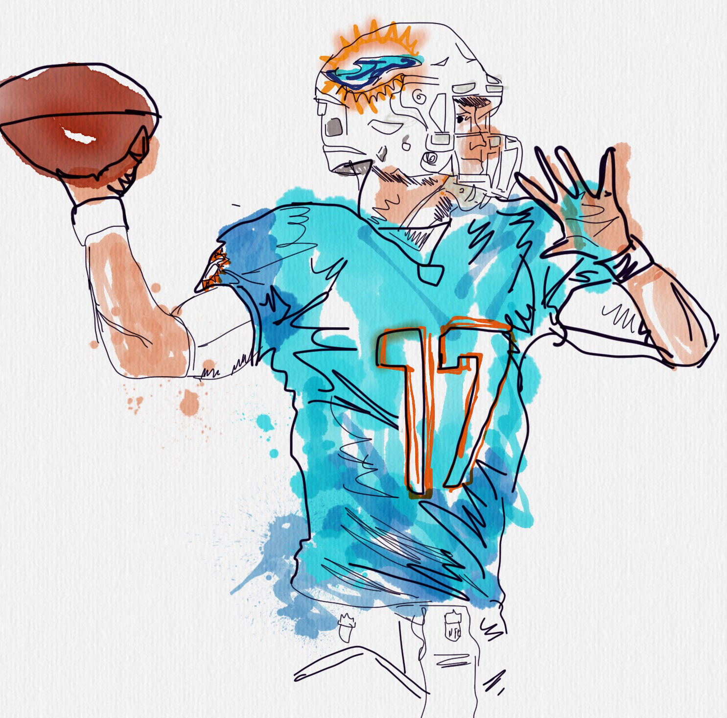 Charlie ans miami dolphins 2016 fan art ryan tannehill of the miami dolphins voltagebd Choice Image