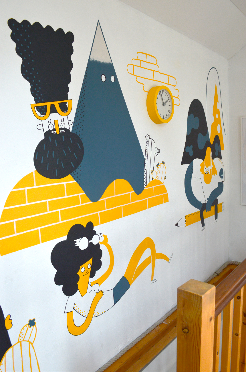 Chloe Batchelor Illustration Studio - Buff Motion - Studio Wall
