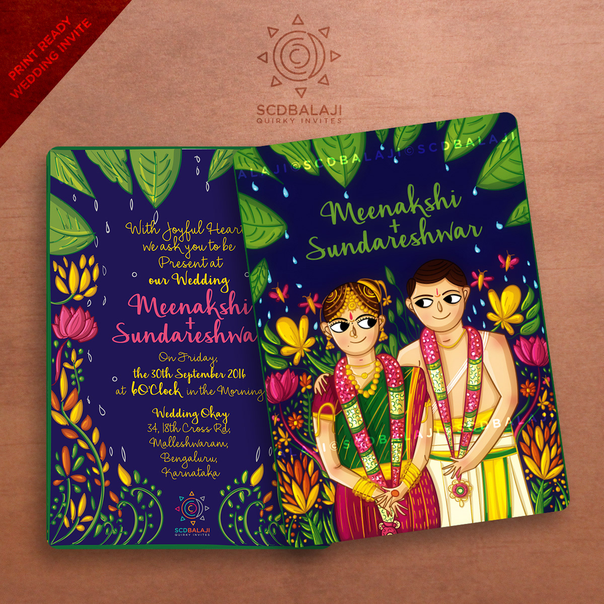 Quirky Indian Wedding Invitations
