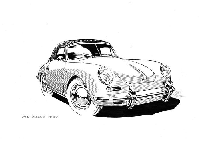 Jeffrey Phillips Classic Car Illustrations