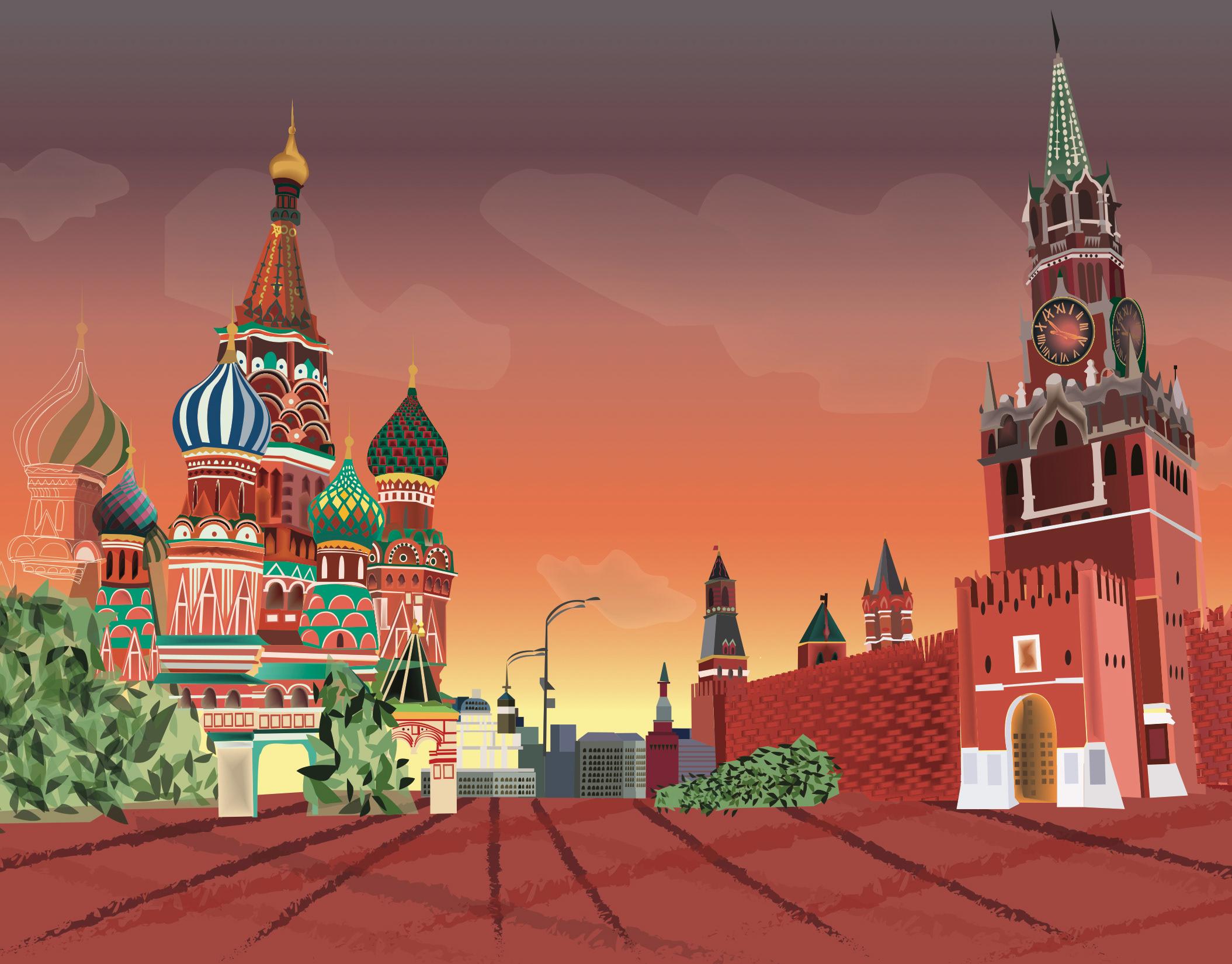 Кремль нарисованные картинки