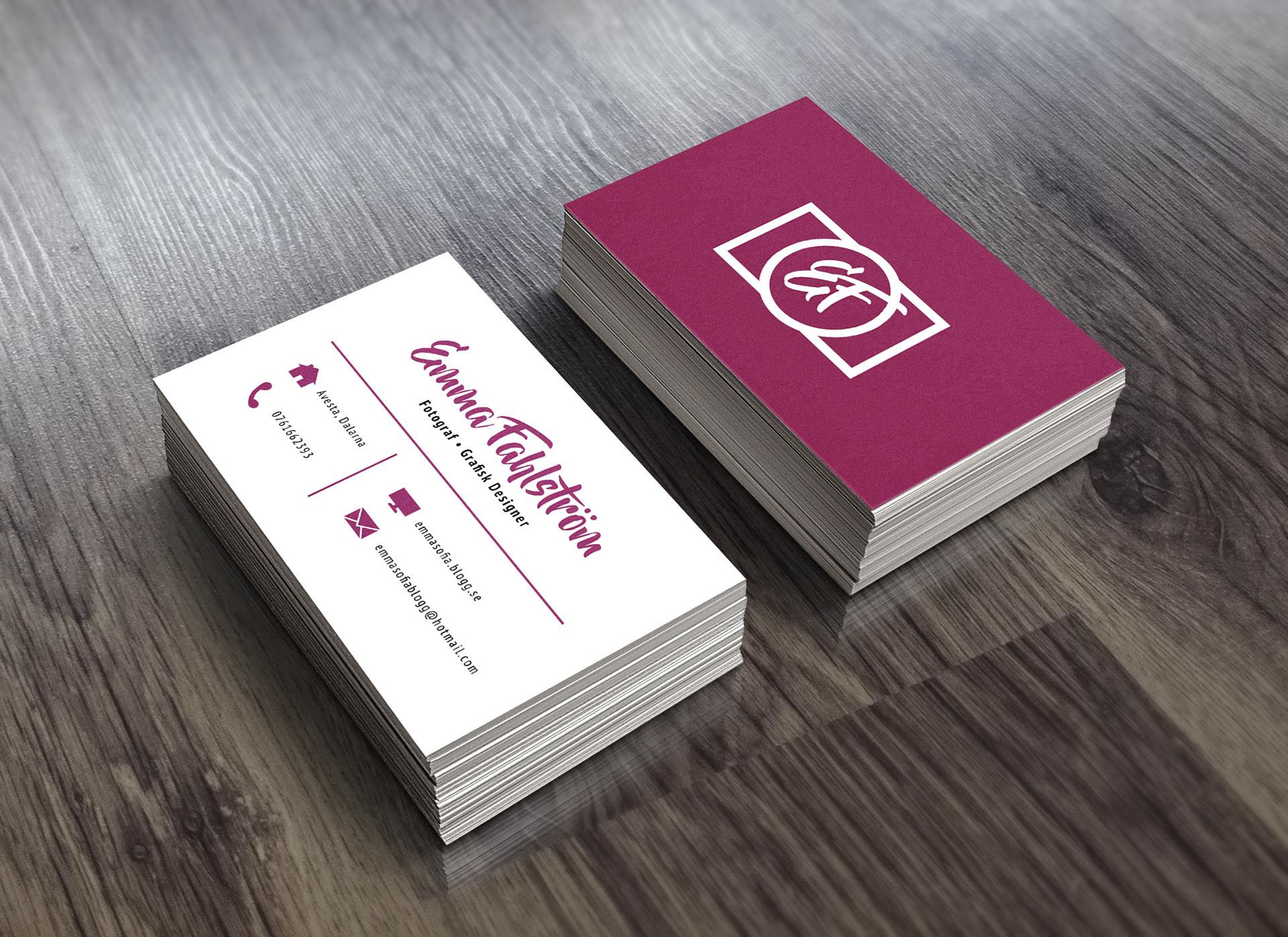 Stine Landin - Business cards