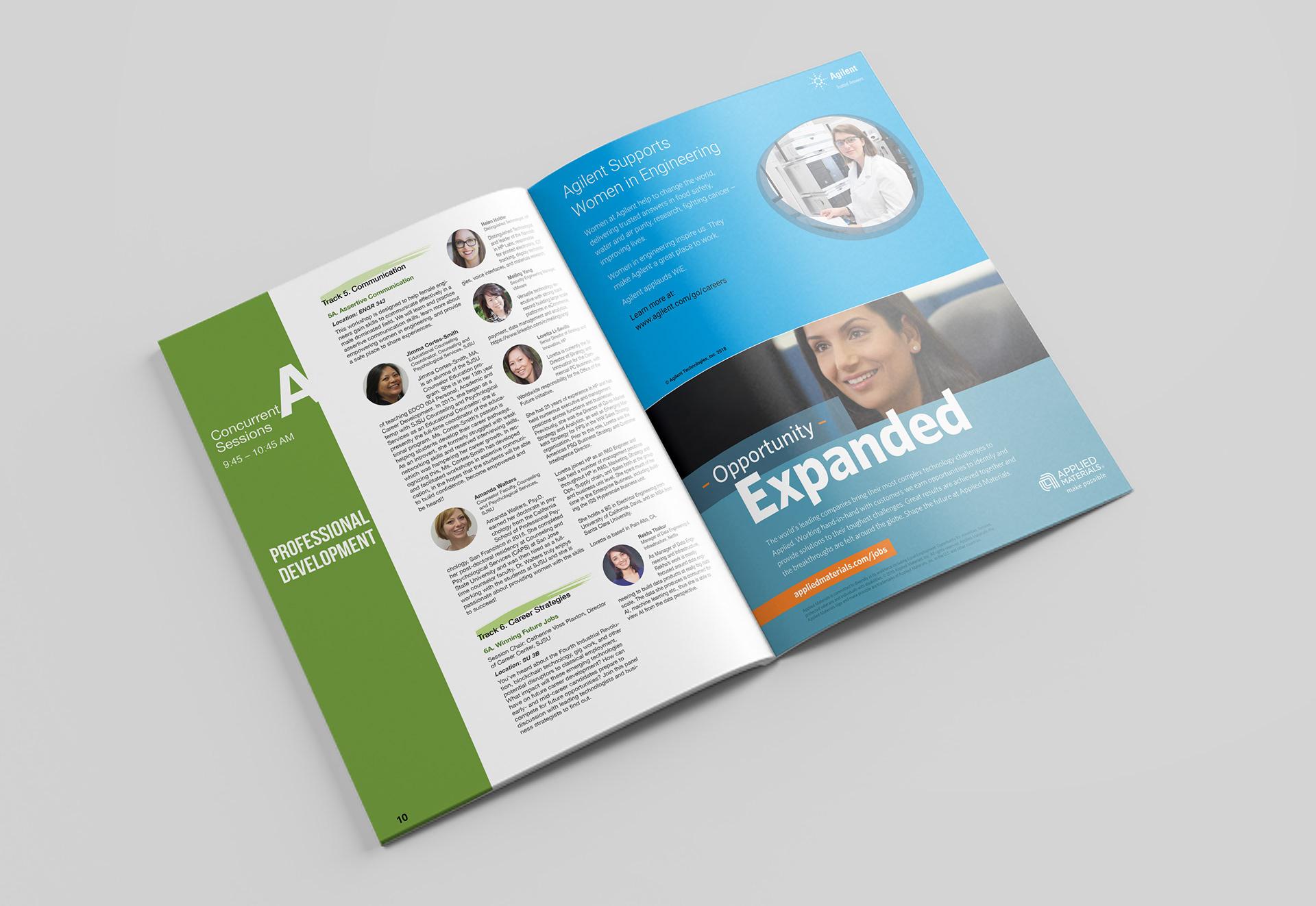 yanshu gu 2018 women in engineering conference brochure design