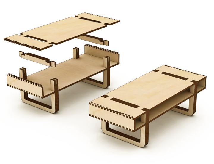 StudioLP4, LLC - P. Lloyd Paul Architect & Photographer - Baltic Birch  Coffee Table