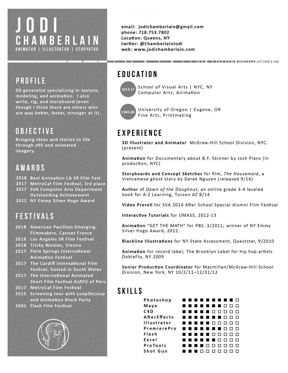 jodi chamberlain - Resume