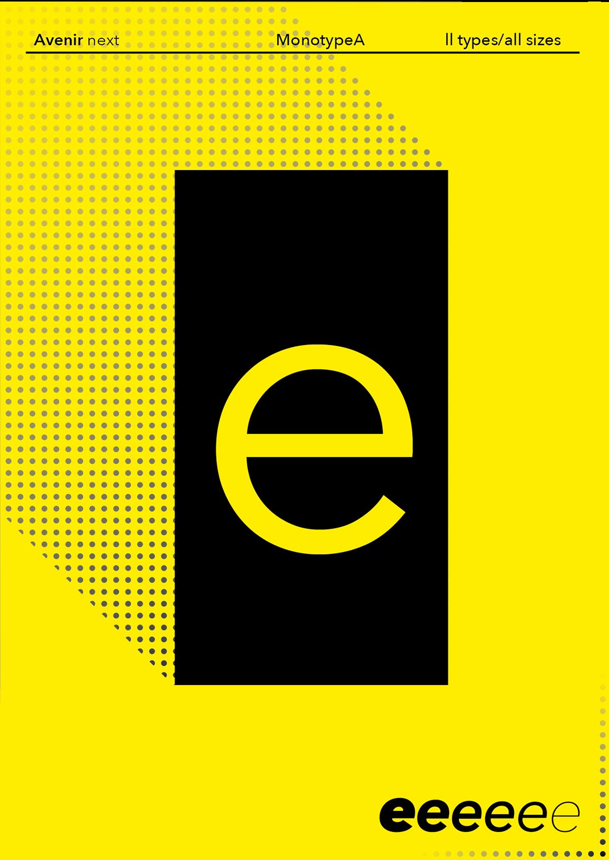 lonely nerd / graphic design - Avenir-Next Specimen