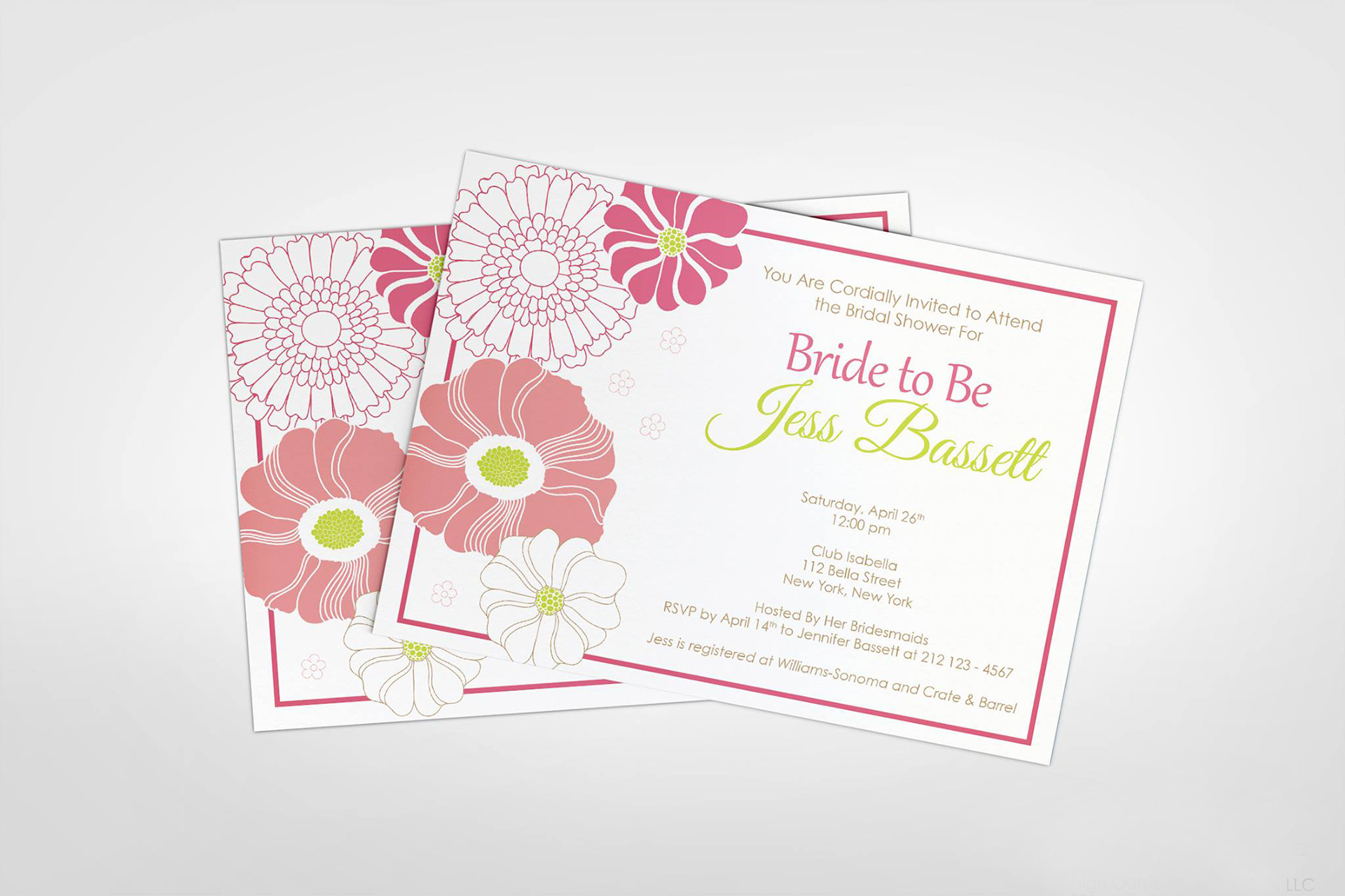 Angela Stacey - Bridal Shower | Invitation Design