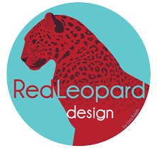 red leopard design logo