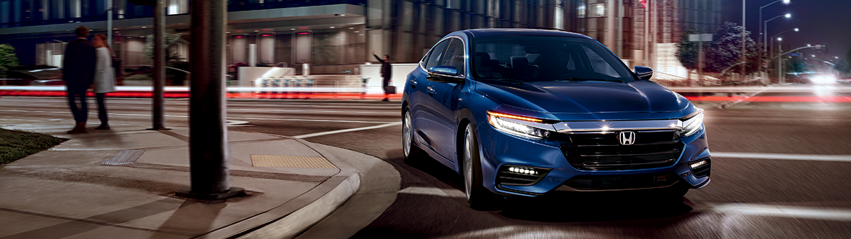 The All-New 2019 Blue Honda Insight Hybrid Sedan at Jay Honda